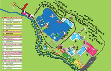 Mapa areálu kúpaliska
