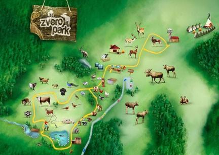 Mapa zveroparku