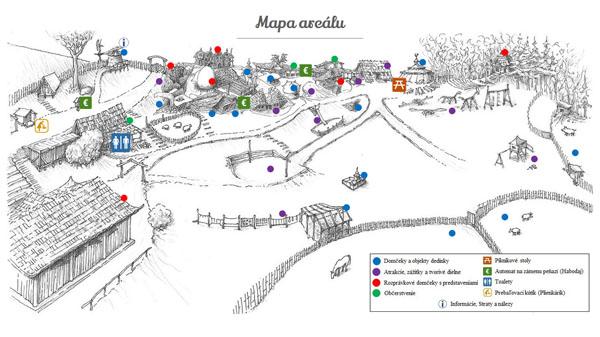 Habakuky Mapa areálu