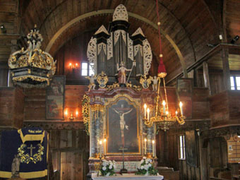 Dřevěný artikulární kostel v Hronseku