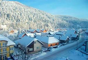 Oravský Biely Potok v zime