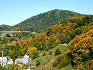 Banský Studenec - okolité lesy a vrchy
