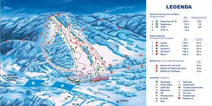 Meander Skipark Oravice Mapa