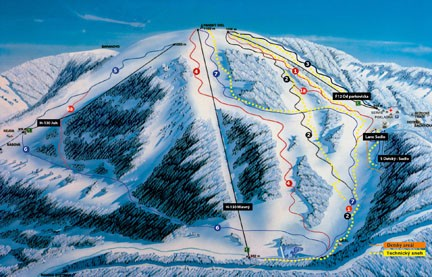 Mapa Ski Šachtičky