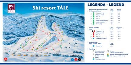 Ski Tále Mapa