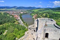 Hrad Strečno - pohľad z hradu